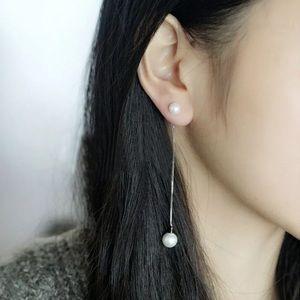 Celina Pearl Threader Earrings